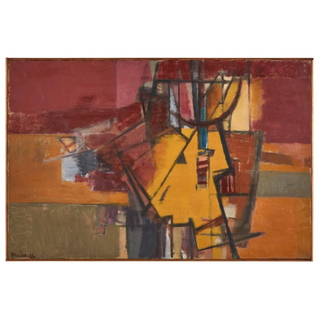 1940s Abstract Painting For Sale - Image 5 of 5