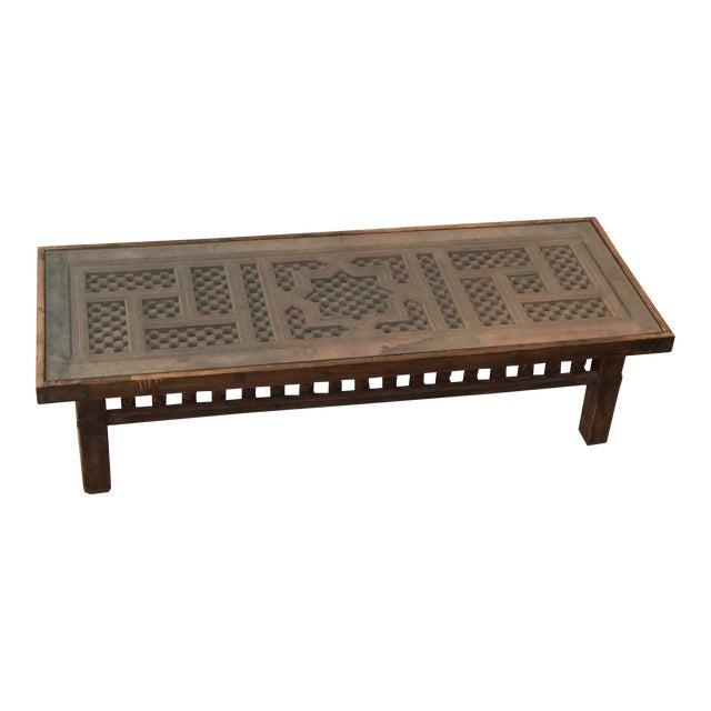 e5611dbcef799 Moroccan Intricate Coffee Table | Chairish