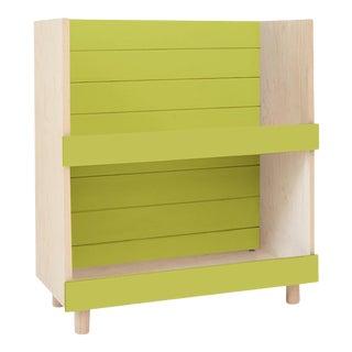 "Nico & Yeye Minimo Modern Kids 31"" Bookcase in Hardwood and Green For Sale"