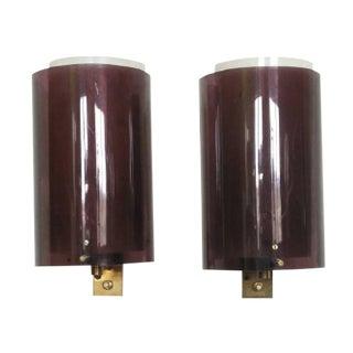 Vintage Stilnovo Plexiglass Sconces - a Pair
