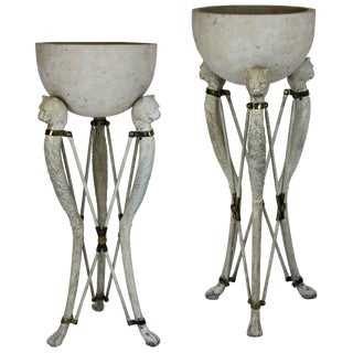 1950's English Torchere Jardinieres in the Manner of Thomas Hope - a Pair