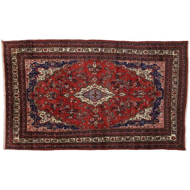 1960s Vintage Kabudarahang Hamadan Persian Palace Rug - 10′6″ × 17′2″ For Sale - Image 5 of 8