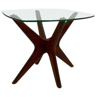 Jack Base End Table by Pearsall For Sale