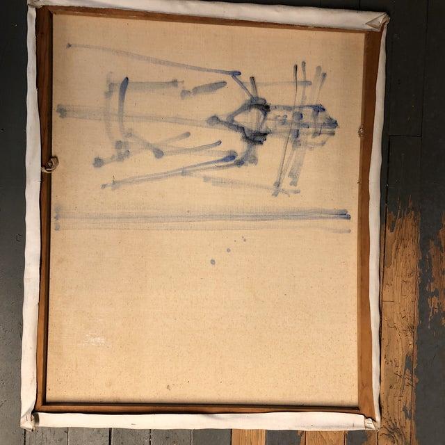 1940s Original Mid Century Modernist Painting Dancer Signed For Sale - Image 5 of 6