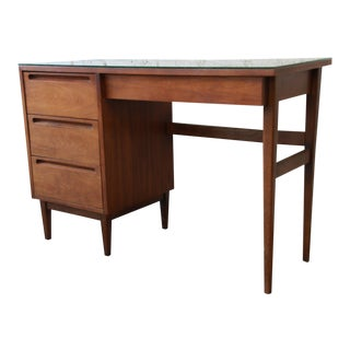 Mid-Century Modern Walnut Desk by American of Martinsville