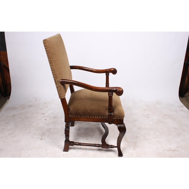 1920s French Queen Anne Style Arm Chair - Image 3 of 5