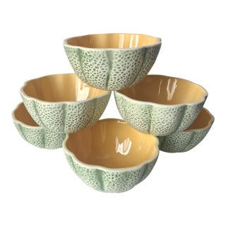 Ceramic Melon Shaped Bowls - Set of 6