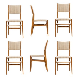 Set of 6 Gio Ponti Dining Chairs For Sale