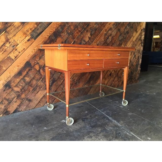 Mid-Century Paul McCobb Rolling Bar Cart - Image 5 of 8