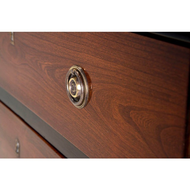 English Mahogany Chests With Black Detailing - a Pair For Sale - Image 9 of 11