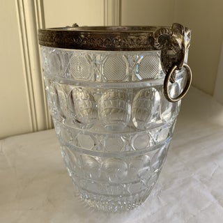 Vintage Ram Head Cut Glass Ice Bucket Vase Preview