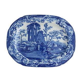 """1820s English Transferware """"Abbey Ruins"""" Platter For Sale"""