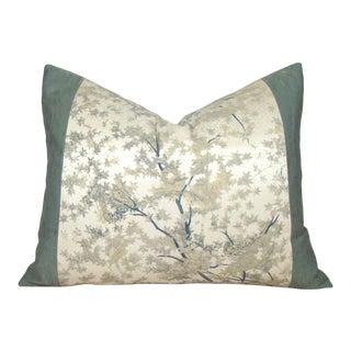 Japanese Silk Kimono Tree Branch Pillow Cover For Sale