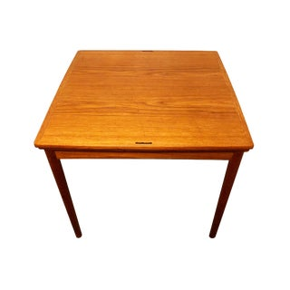 1970s Mid-Century Modern Poul Hundevad Danish Teak Dining or Game Table For Sale