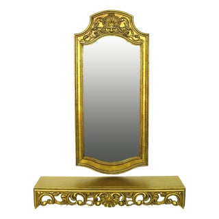 Spanish Console and Mirror in Gilt Finish by Francisco Hurtado For Sale