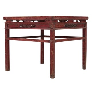 Sarreid Ltd. C. 1950 Qing Dynasty Pine Dining Table For Sale