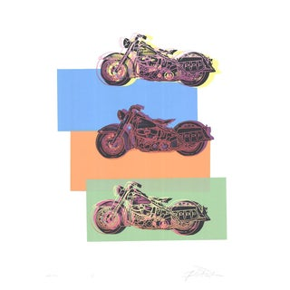 Friedbert Renbaum, Harley X 3, 1994, Serigraph-Signed For Sale