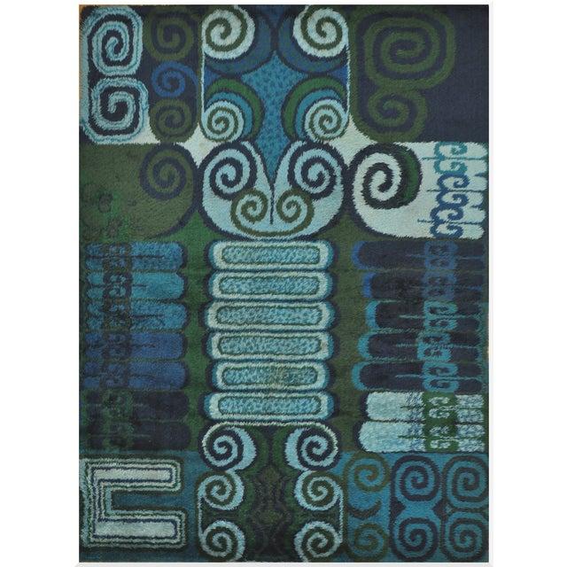 Room Size Vintage Scandinavian Rug - 7′10″ × 11′4″ - Image 1 of 4
