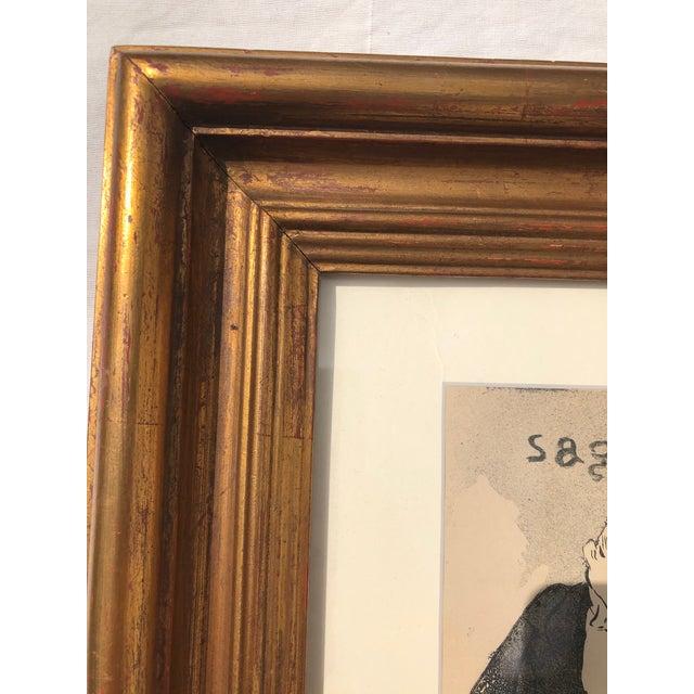 "Gray Framed Print of ""Sagesse"" (Wisdom) by Henri De Toulouse-Lautrec For Sale - Image 8 of 13"