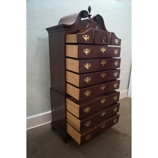 Statton Chippendale Style Highboy Dresser - Image 2 of 10