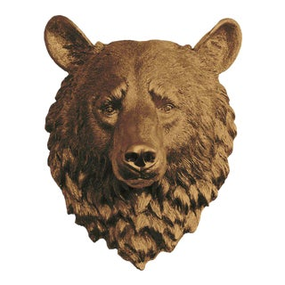 Wall Charmers Faux Bronze Mini Bear Head Wall Sculpture
