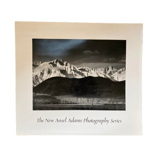 "1944 Ansel Adams ""Winter Sunrise"" Sierra Nevada From Lone Pine Photography Exhibition Print For Sale"