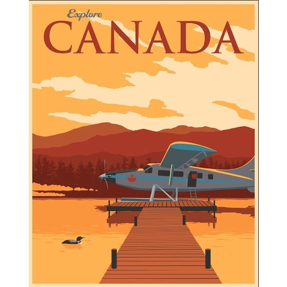 Contemporary Steve Thomas Canadian Travel Poster For Sale - Image 3 of 3