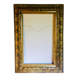 Very Large 19th Century Antique Gilded Frame For Sale