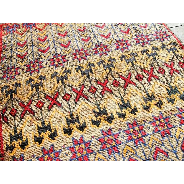 Vintage Brown Persian Tribal Rug - 2′8″ × 3′5″ - Image 3 of 6