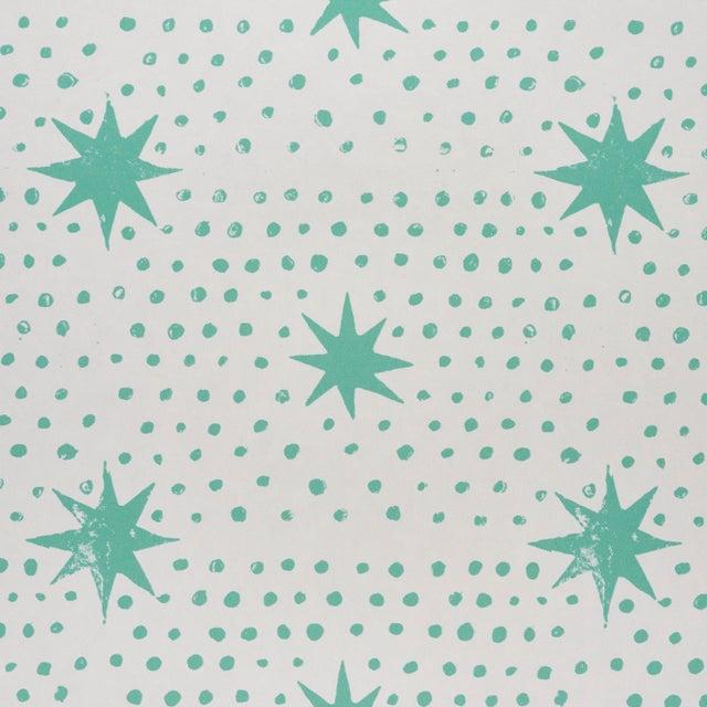 Contemporary Sample - Schumacher x Molly Mahon Spot & Star Wallpaper in Seaglass For Sale - Image 3 of 6