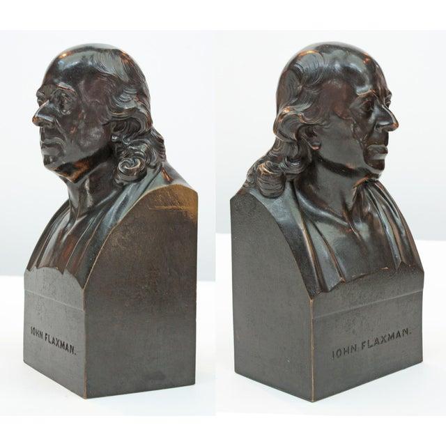 John Flaxman Bronze Portrait Bust by Samuel Parker after Samuel Joseph For Sale - Image 4 of 4