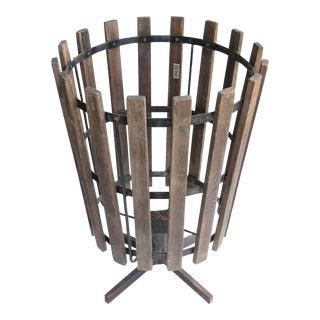 1930's Vintage Industrial Basket For Sale