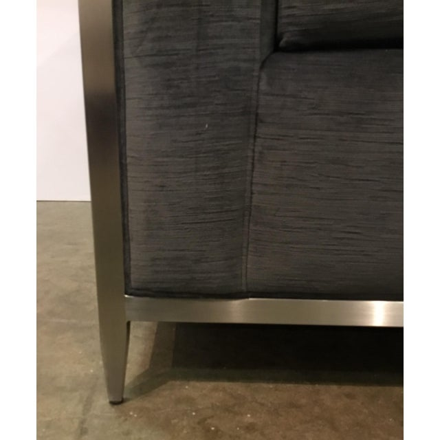 Caracole Caracole Modern Charcoal Velvet Ice Breaker Club Chair For Sale - Image 4 of 7
