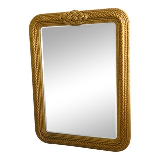 French Rope Mirror in the Style of Audoux and Minet For Sale
