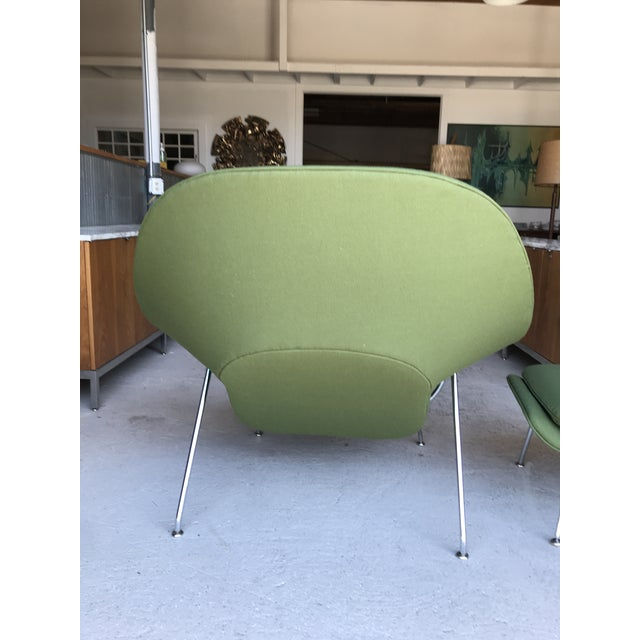 Reupholstered! Knoll Womb Chair Ottoman Eero Saarinen For Sale In New York - Image 6 of 13
