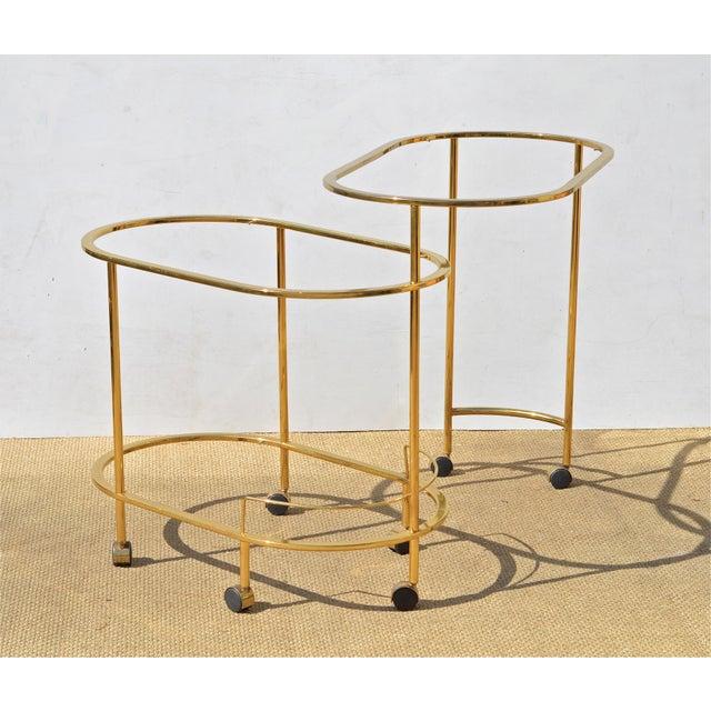 Brass & Glass Bar Cart - Image 7 of 9