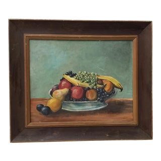 "Arthur Dow ""Fruit Still Life"" Original Oil Painting C.1920s For Sale"