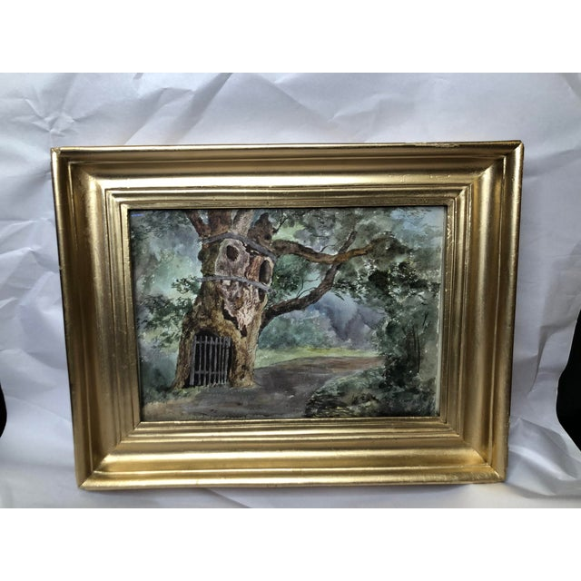 English 1891 Impressionist English Landscape Watercolor Painting, Framed For Sale - Image 3 of 10