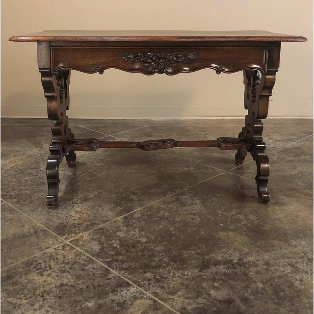 19th Century French Napoleon III Rosewood Writing Desk For Sale - Image 12 of 13