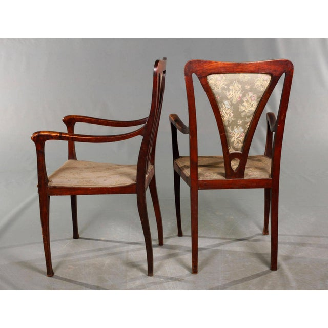 Arts & Crafts Art & Craft Armchairs England Around 1900 For Sale - Image 3 of 5