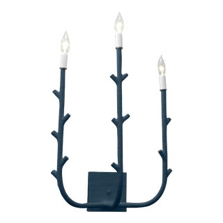 Stray Dog Designs for Chairish Fred Sconce, Navy For Sale