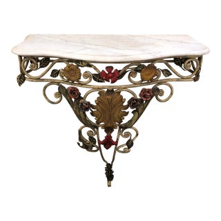 20th Century Italian Marble Top Console For Sale