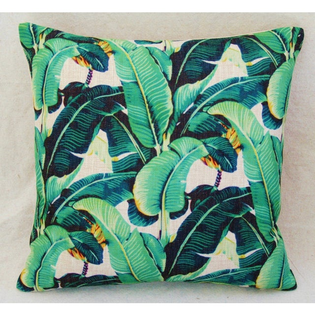 Contemporary Dorothy Draper-Style Banana Leaf Pillows - a Pair For Sale - Image 3 of 6