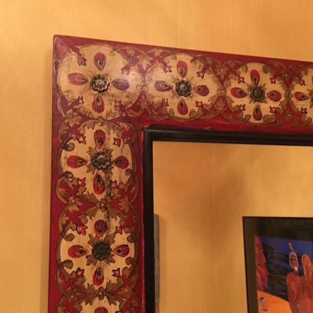 Spanish Style Red Mirror - Image 6 of 7