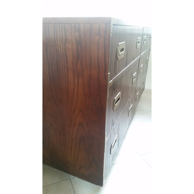 Wood & Brass Campaign Dresser - Image 3 of 7