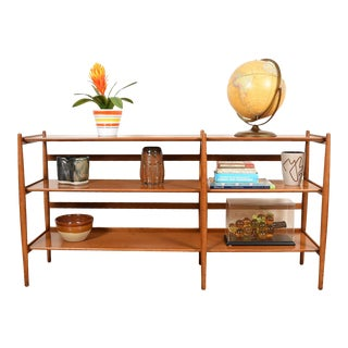 Kipp Stewart Famed Sun Coast Collection for Drexel - 1959 Rare Open Console Bookcase For Sale