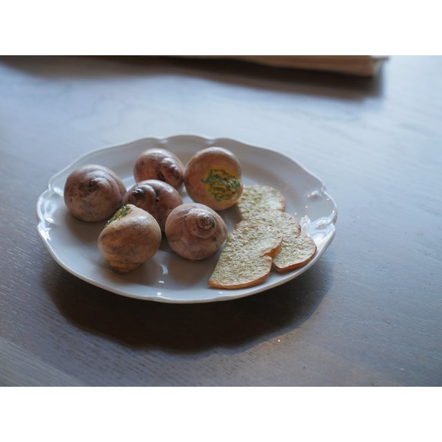 Mid 20th Century Christine Viennet Trompe l'Oeil Snail Plate For Sale - Image 5 of 7