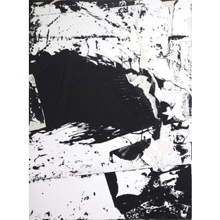 "Original Abstract Black and White Painting ""0501"" by Cole Altuzarra For Sale"
