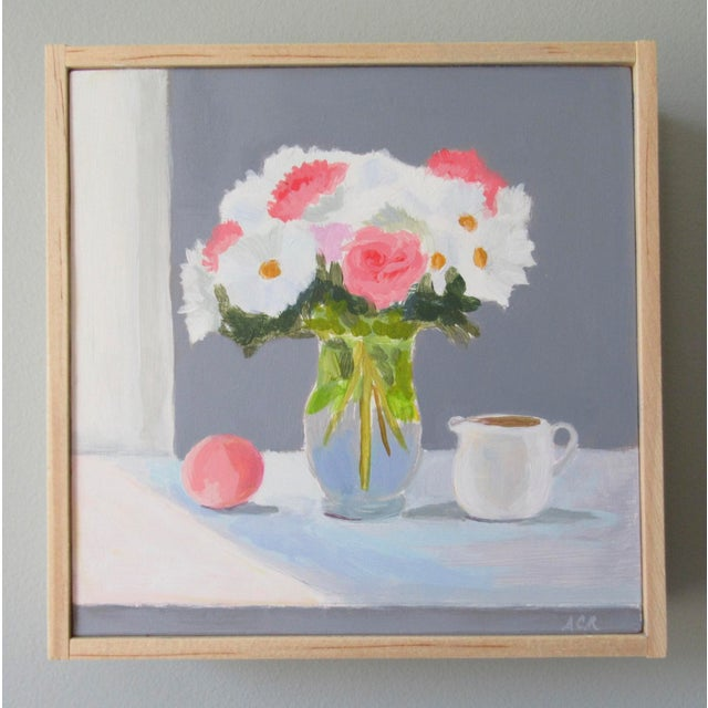 Anne Carrozza Remick Bouquet With Peach and Creamer by Anne Carrozza Remick For Sale - Image 4 of 6