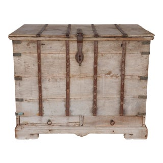 Provincial Wooden Campaign Trunk For Sale